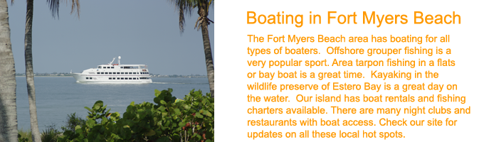 Fort Myers Beach Boating and Sailing